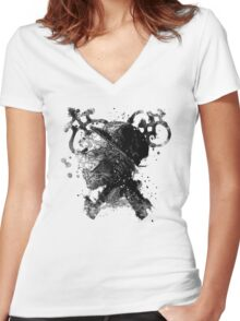 Golden Age and keys Women's Fitted V-Neck T-Shirt