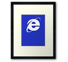 Internet Explorer: A More Beautiful Web Framed Print