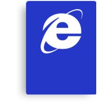 Internet Explorer: A More Beautiful Web Canvas Print