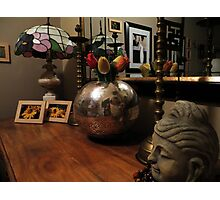 Sideboard & Mirror Reflections Photographic Print