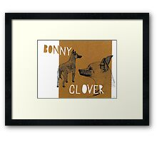 Bonnie and Clover Framed Print