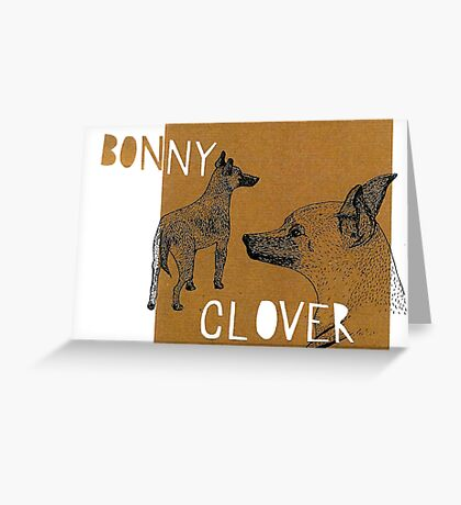 Bonnie and Clover Greeting Card
