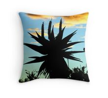 A Splash of Aloe Throw Pillow