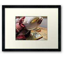 Lucy Discovers A Hand Mirror Framed Print