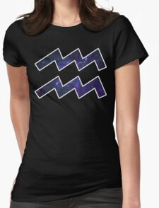 Purple Broccoli [White Outline] | Age of Aquarius Womens Fitted T-Shirt