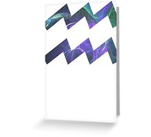 See Green [White Outline] | Age of Aquarius Greeting Card