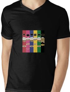 Power Rangers Zeo T-Shirt Mens V-Neck T-Shirt
