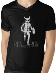 Run boy... run Mens V-Neck T-Shirt