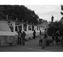 Black and White outdoor exhibition Photographic Print