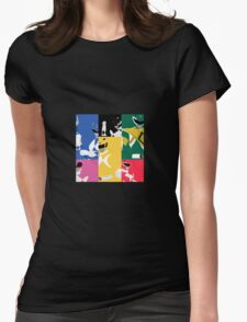 Mighty Morphin Power Rangers T-Shirt Womens Fitted T-Shirt
