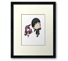 Rize and Kaneki Tokyo Ghoul Framed Print