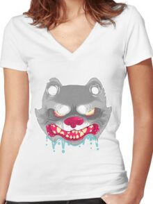 Seething Women's Fitted V-Neck T-Shirt