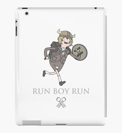 Run Boy Run (Adventure Time parody) iPad Case/Skin