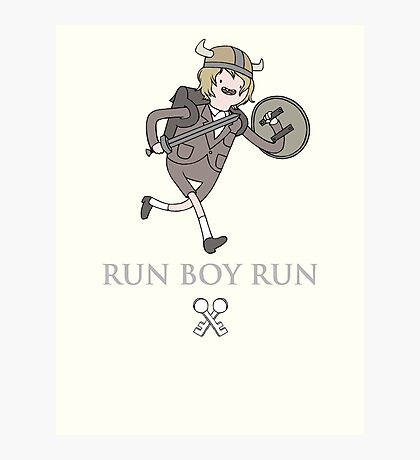 Run Boy Run (Adventure Time parody) Photographic Print
