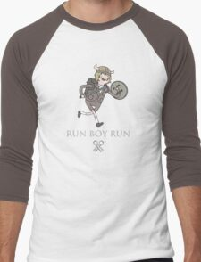 Run Boy Run (Adventure Time parody) Men's Baseball ¾ T-Shirt