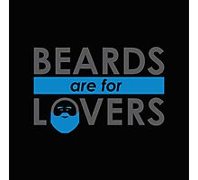 Beards Are For Lovers (Blue) Photographic Print
