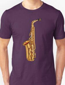 Saxophone Gold  Unisex T-Shirt