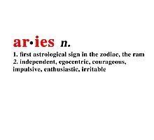 Zodiac Definitions: Aries Photographic Print