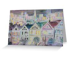 san francisco houses Greeting Card