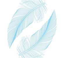 Blue feathers by beakraus