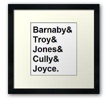 Midsomer Murders - Helvetica List Framed Print