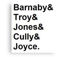 Midsomer Murders - Helvetica List Canvas Print