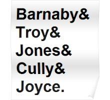 Midsomer Murders - Helvetica List Poster