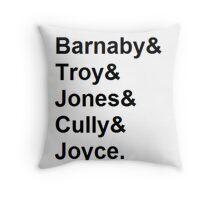 Midsomer Murders - Helvetica List Throw Pillow