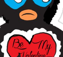 Be My Valentine Penguin Sticker