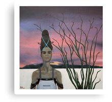 Henrietta and the Ocotillo Canvas Print