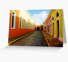 Old San Juan Colors Greeting Card