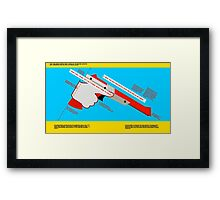 Firearms Safety Poster: NES Zapper edition Framed Print