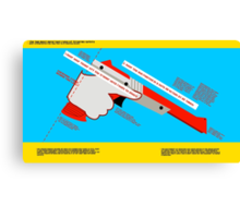 Firearms Safety Poster: NES Zapper edition Canvas Print