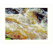 Turbulent Waters Art Print