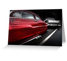 hot pursuit Greeting Card