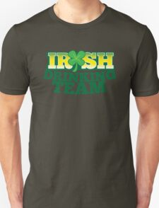 IRISH drinking Team with beer pint and Shamrock T-Shirt