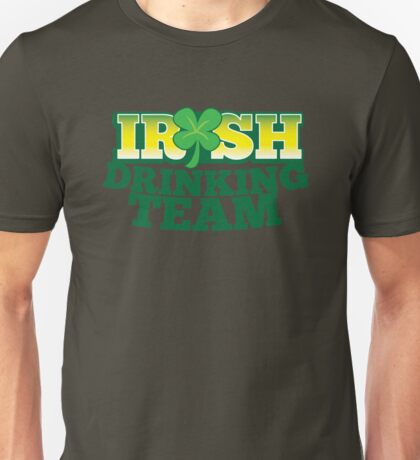 IRISH drinking Team with beer pint and Shamrock Unisex T-Shirt