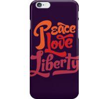 Peace Love Liberty iPhone Case/Skin