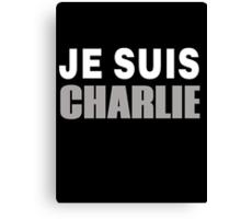 JE SUIS CHARLIE, I AM CHARLIE Canvas Print