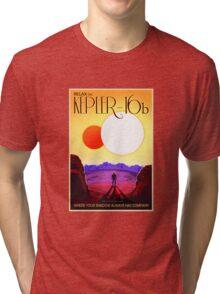 Nasa Travel Poster-Kepler-16b Tri-blend T-Shirt