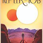 Nasa Travel Poster-Kepler-16b by nasatravelposte