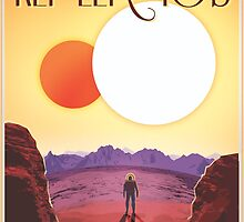 Nasa Travel Poster-Kepler-16b by nasatravelposte