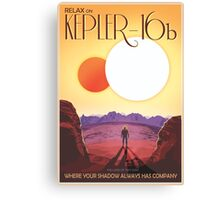 Nasa Travel Poster-Kepler-16b Canvas Print