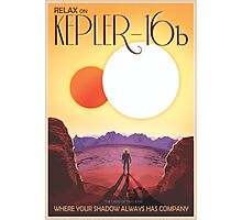 Nasa Travel Poster-Kepler-16b Photographic Print
