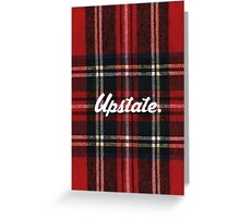 Upstate Supply Co- Flannel Case Greeting Card