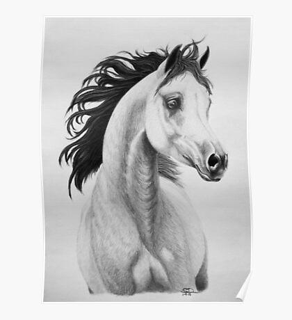 """You Lift My Spirit"" - Charcoal Portrait Poster"