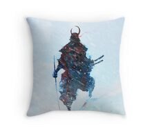 Yuki no Oni Bishamon Throw Pillow
