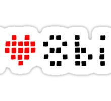 I heart 8bit Sticker