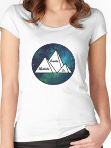 Upstate Supply Co- Mountain Nebula Women's Fitted Scoop T-Shirt