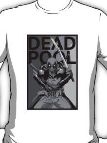 Deadpool - Pose - black and white T-Shirt
